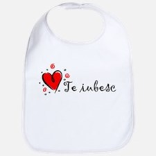 """I Love You"" [Romanian] Bib"