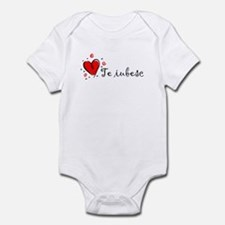 """I Love You"" [Romanian] Onesie"