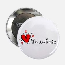 """I Love You"" [Romanian] Button"