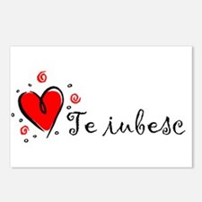"""""""I Love You"""" [Romanian] Postcards (Package of 8)"""