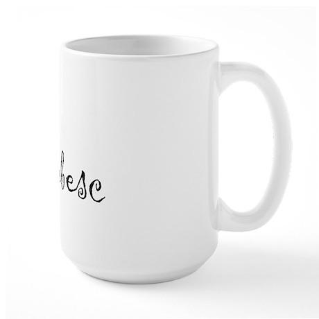"""I Love You"" [Romanian] Large Mug"
