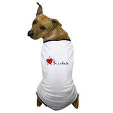 """I Love You"" [Romanian] Dog T-Shirt"