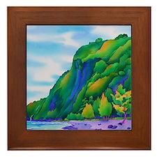 WaipiobeachMousePad Framed Tile