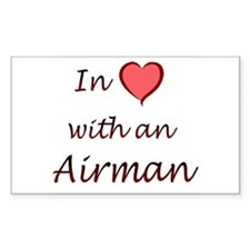 In Love Airman Rectangle Decal
