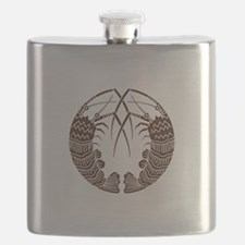Facing spiny lobsters Flask