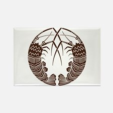 Facing spiny lobsters Rectangle Magnet