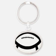 3-football_evolves02 Oval Keychain