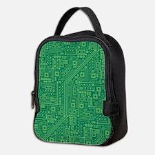 Green Circuit Board Neoprene Lunch Bag
