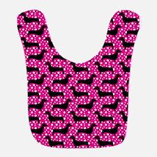 Pink Polka Doxies Bib