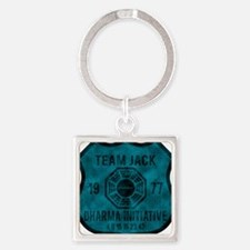2-team jack Square Keychain