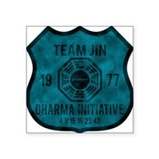 "2-team jin Square Sticker 3"" x 3"""