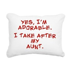 adorable-aunt Rectangular Canvas Pillow