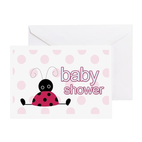 Little Ladybug Baby Shower Greeting Card