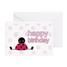 Little Ladybug Birthday Yard Sign Greeting Card