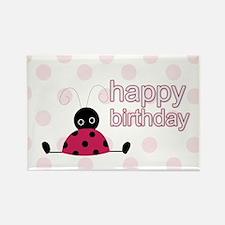 Little Ladybug Birthday Yard Sign Rectangle Magnet