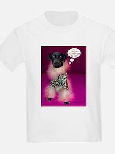 Black Lab Leopard Kids T-Shirt