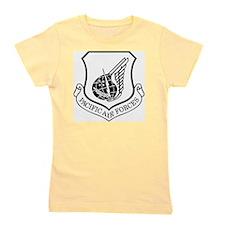 USAF-PAF-Shield-Black-White Girl's Tee