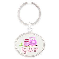 Big Sister Pink Owls Keychains