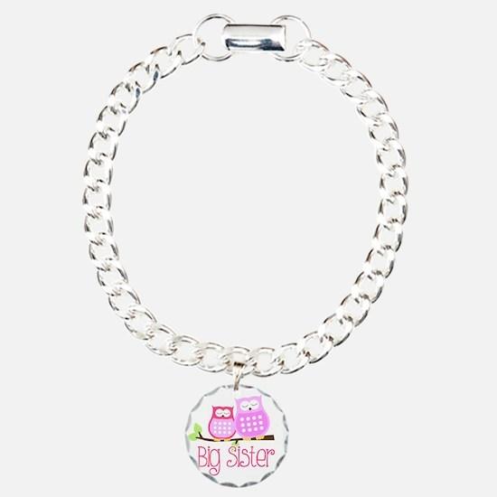 Big Sister Pink Owls Bracelet