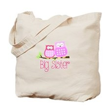 Big Sister Pink Owls Tote Bag