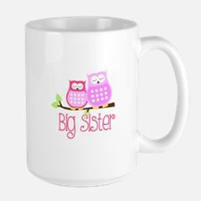 Big Sister Pink Owls Mugs