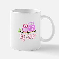 Big Sister Pink Owls Mugs