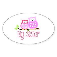 Big Sister Pink Owls Decal