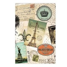 Vintage Travel collage Postcards (Package of 8)