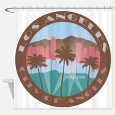 LA City of Angels chocolate Shower Curtain