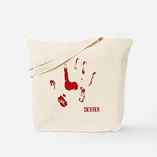 Bloody hand Print Blk Tote Bag