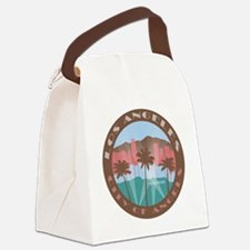 LA City of Angels chocolate Canvas Lunch Bag