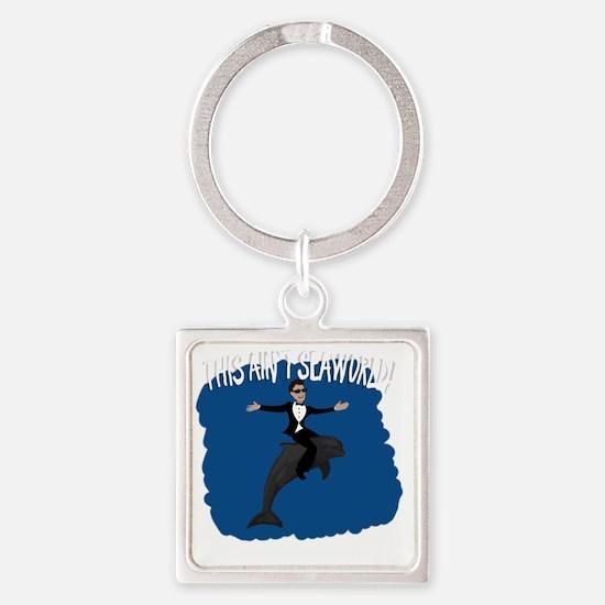 dolphin DARK Square Keychain