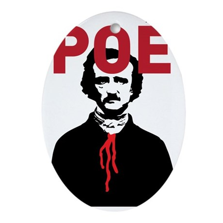 Edgar Allan Poe Oval Ornament