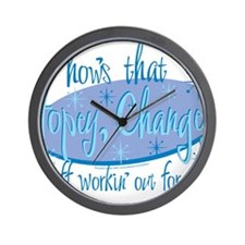 HOPEY-CHANGEY.2eps Wall Clock