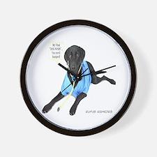 Black Lab Doctor Wall Clock