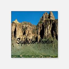 "Superstition Mountain5.5x8. Square Sticker 3"" x 3"""