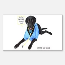 Black Lab Doctor Rectangle Decal
