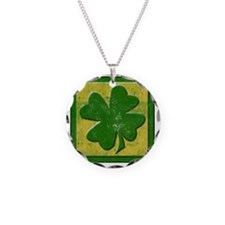 vintage shamrock logo Necklace
