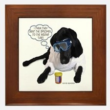Black Lab Scientist Framed Tile