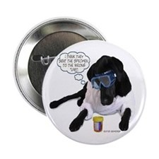 Black Lab Scientist Button