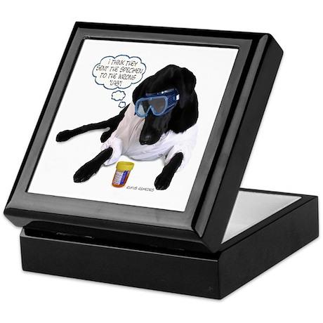 Black Lab Scientist Keepsake Box