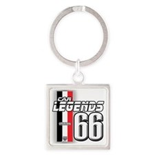 66legends Square Keychain