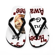 go awayeeeLD Flip Flops