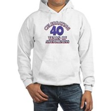 Awesome at 40 birthday designs Hoodie