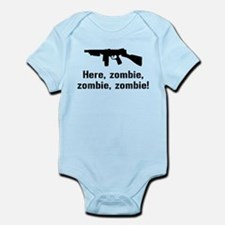 Here Zombie Zombie Zombie Gun Infant Bodysuit