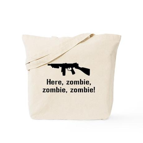 Here Zombie Zombie Zombie Gun Tote Bag