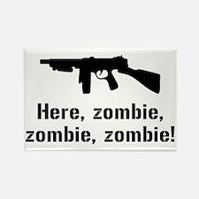 Here Zombie Zombie Zombie Gun Rectangle Magnet (10