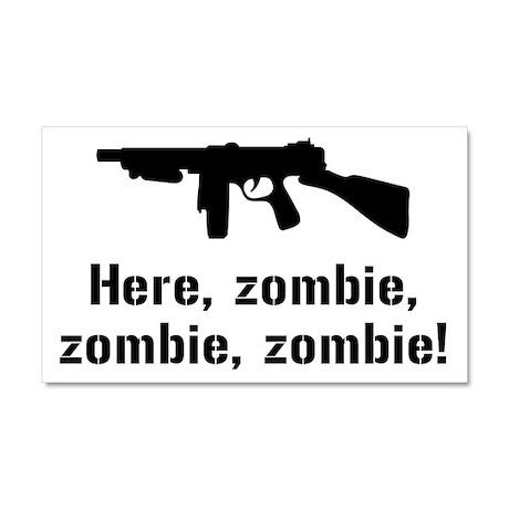 Here Zombie Zombie Zombie Gun Car Magnet 20 x 12