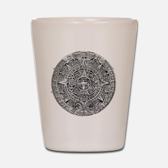 Aztec Calendar Stone wt 25 tons diam 11 Shot Glass