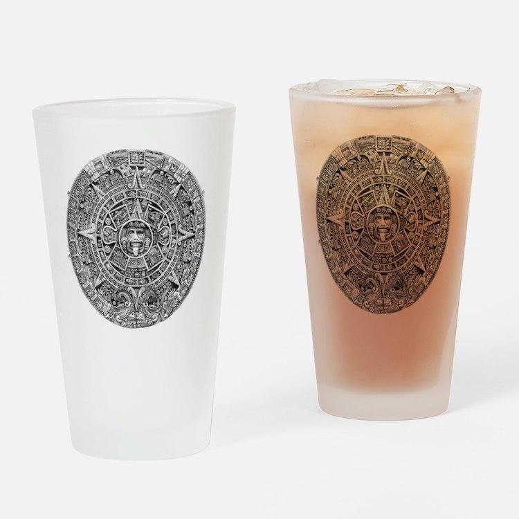 Aztec Calendar Stone wt 25 tons dia Drinking Glass